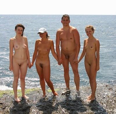 пляж голые семейный нудизм фото